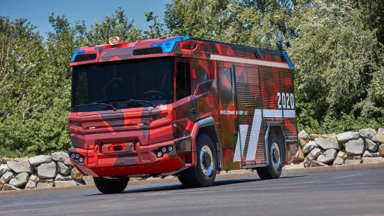 Framtidens brandbil med eldrivlina från Volvo Penta
